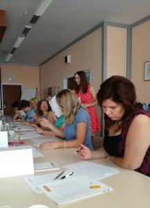 Frekventantky celodenního firemního kurzu pravopisu na míru, SVK Teplice (ve spolupráci s Otidea), červen 2017